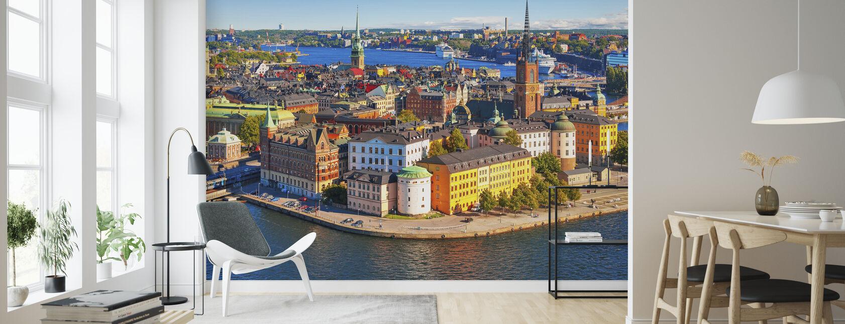 Panorama av Gamla Stan i Stockholm - Tapet - Stue