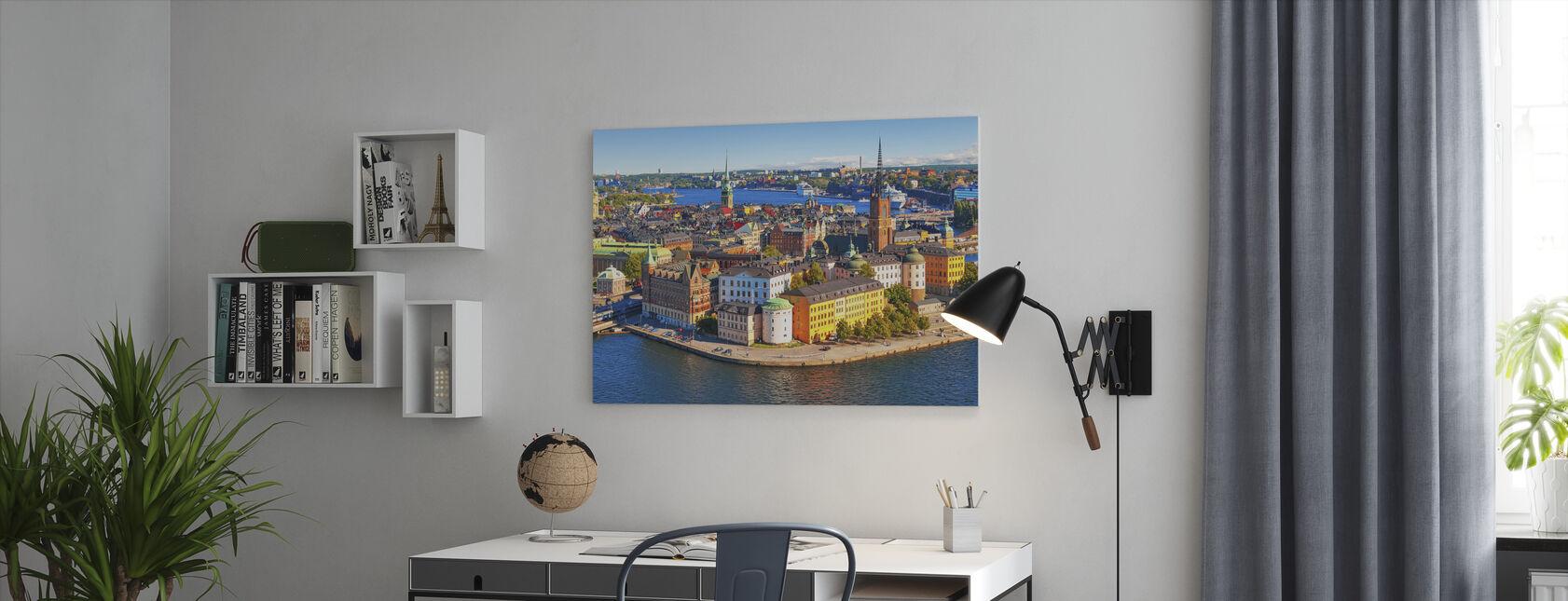 Panorama över Gamla stan i Stockholm - Canvastavla - Kontor