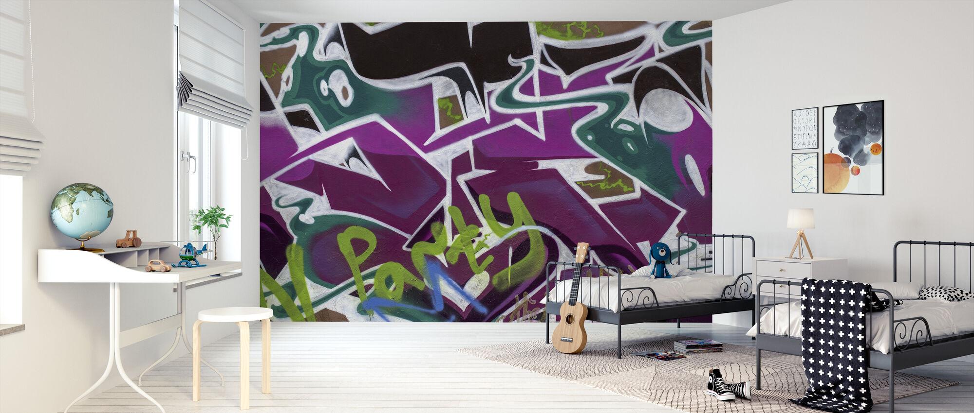 Party Graffiti - Tapetti - Lastenhuone
