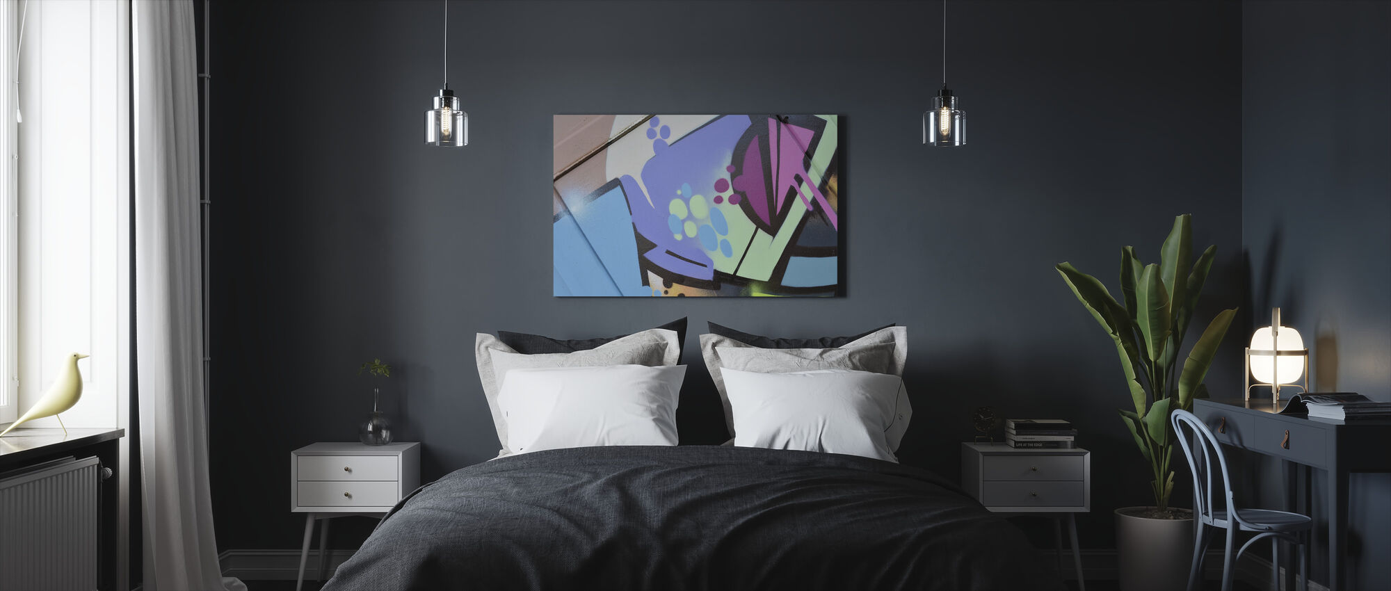 Pastel Graffiti - Canvas print - Bedroom