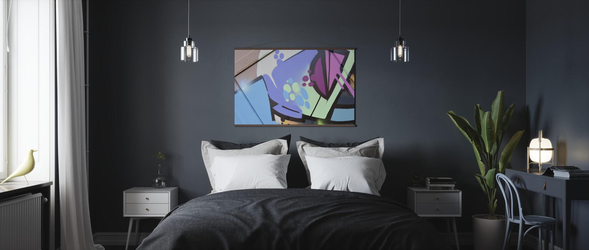 Pastellin graffiti - Juliste - Makuuhuone