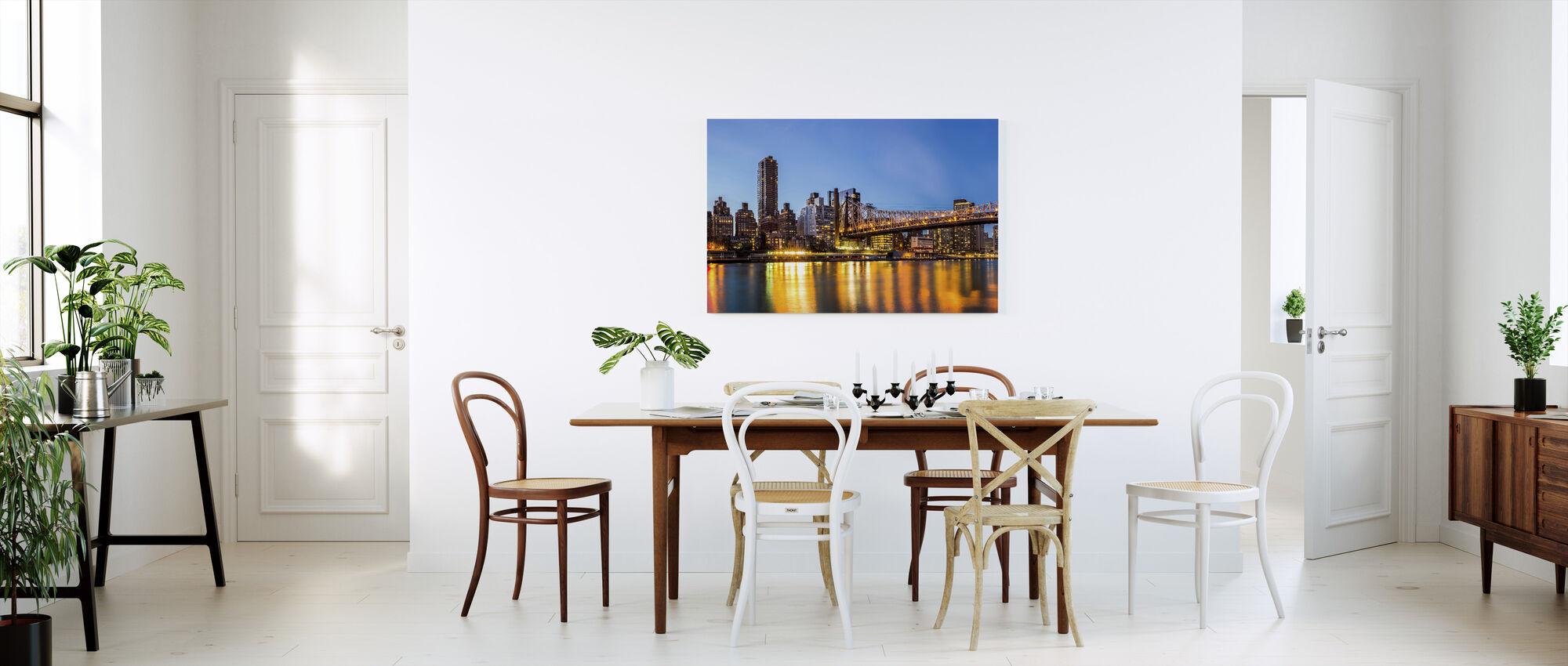New York, New York - Billede på lærred - Køkken