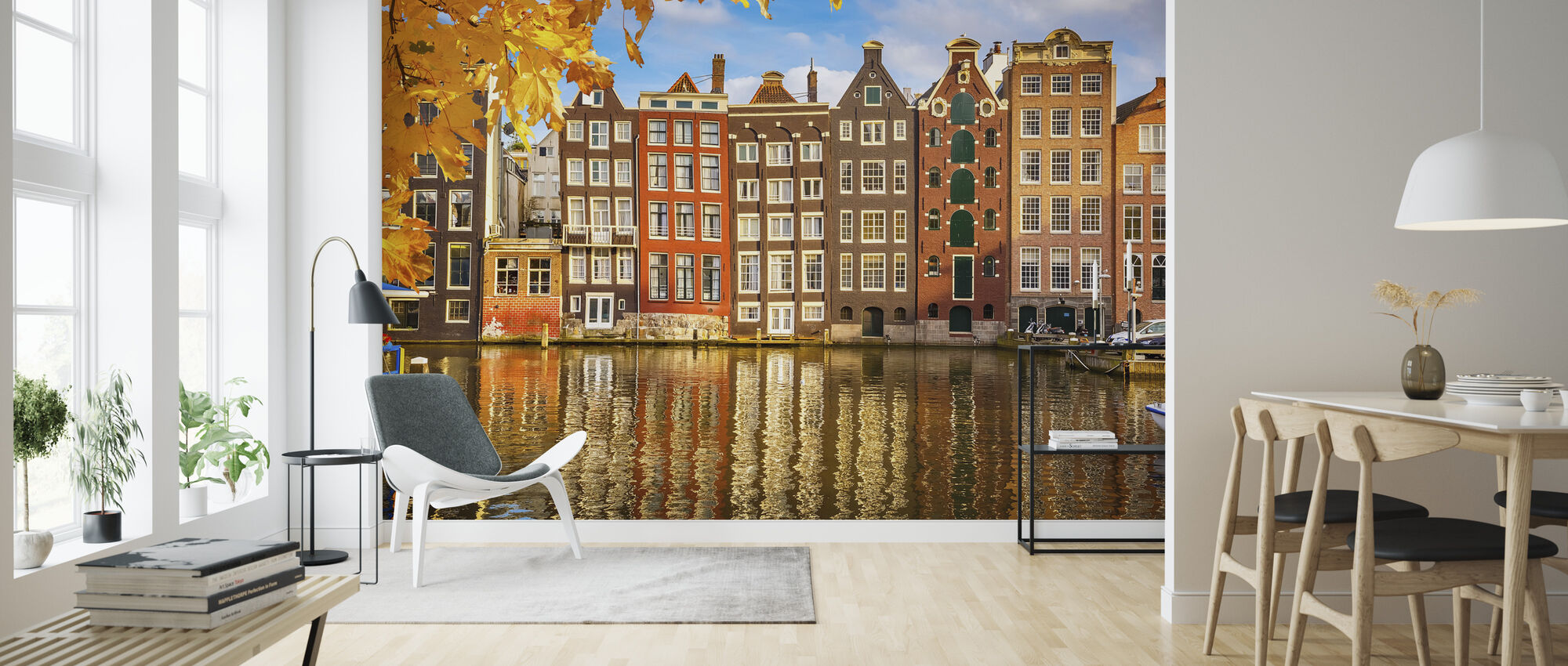 Reflection of Amsterdam - Wallpaper - Living Room