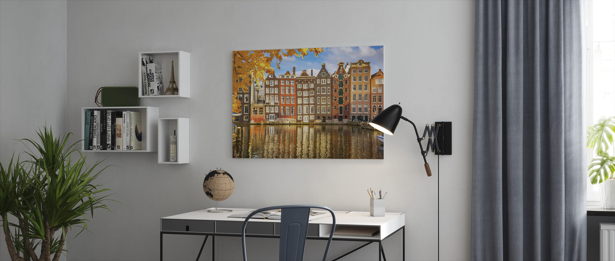 Reflection of Amsterdam - Canvas print - Office