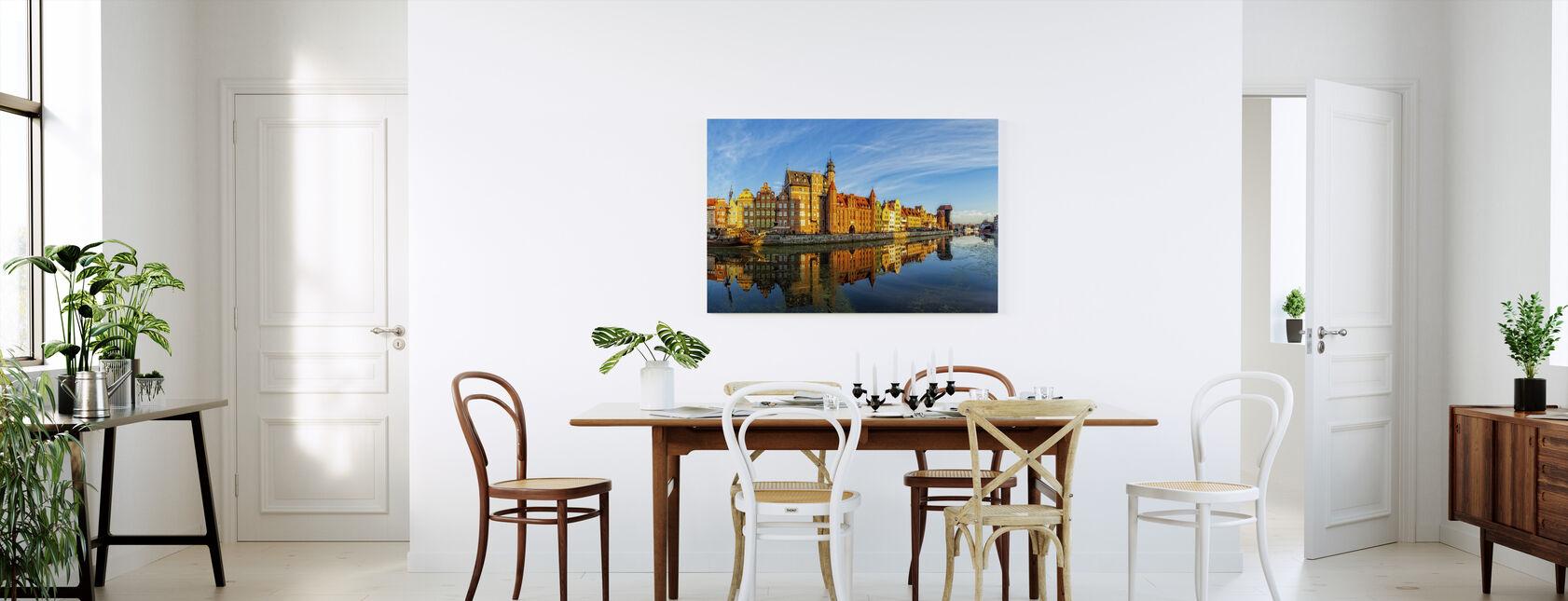 Riverside of Gdansk - Canvas print - Kitchen