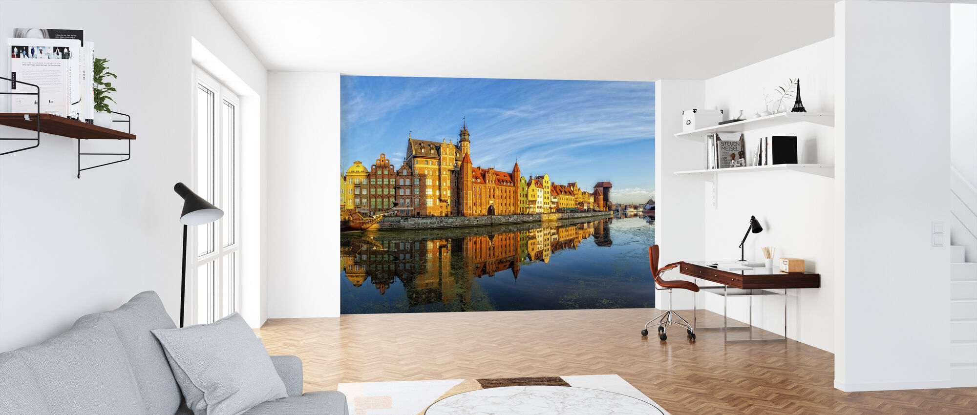 Riverside of Gdansk - Wallpaper - Office