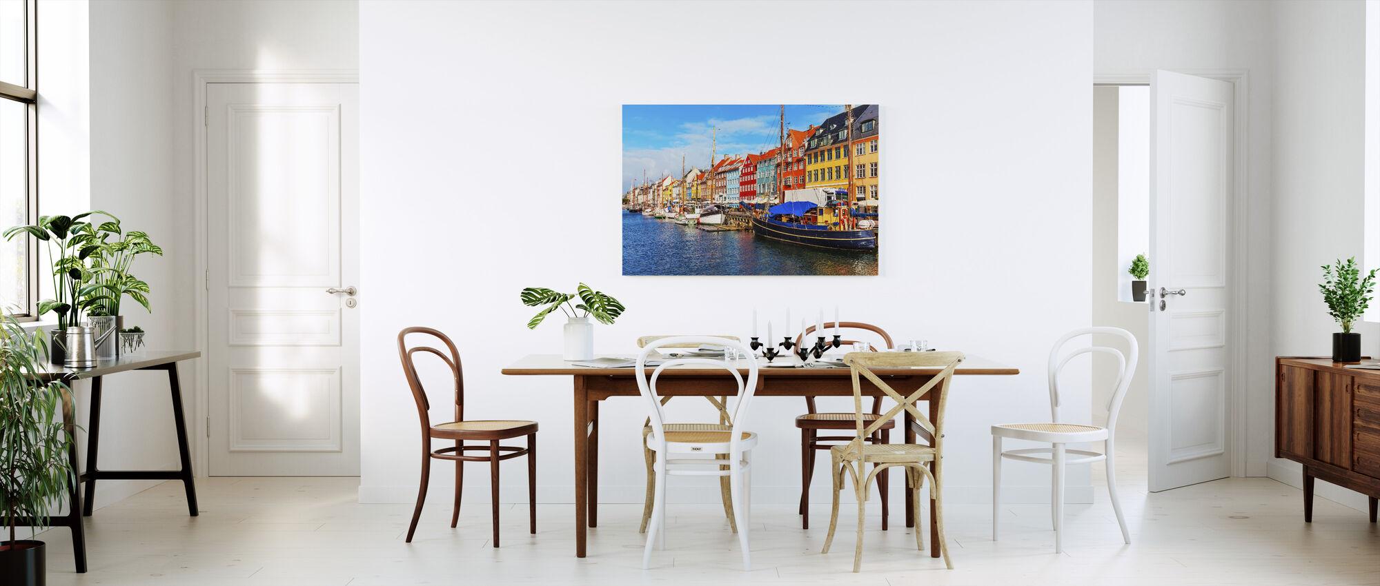 Summer View of Nyhavn Pier - Canvas print - Kitchen