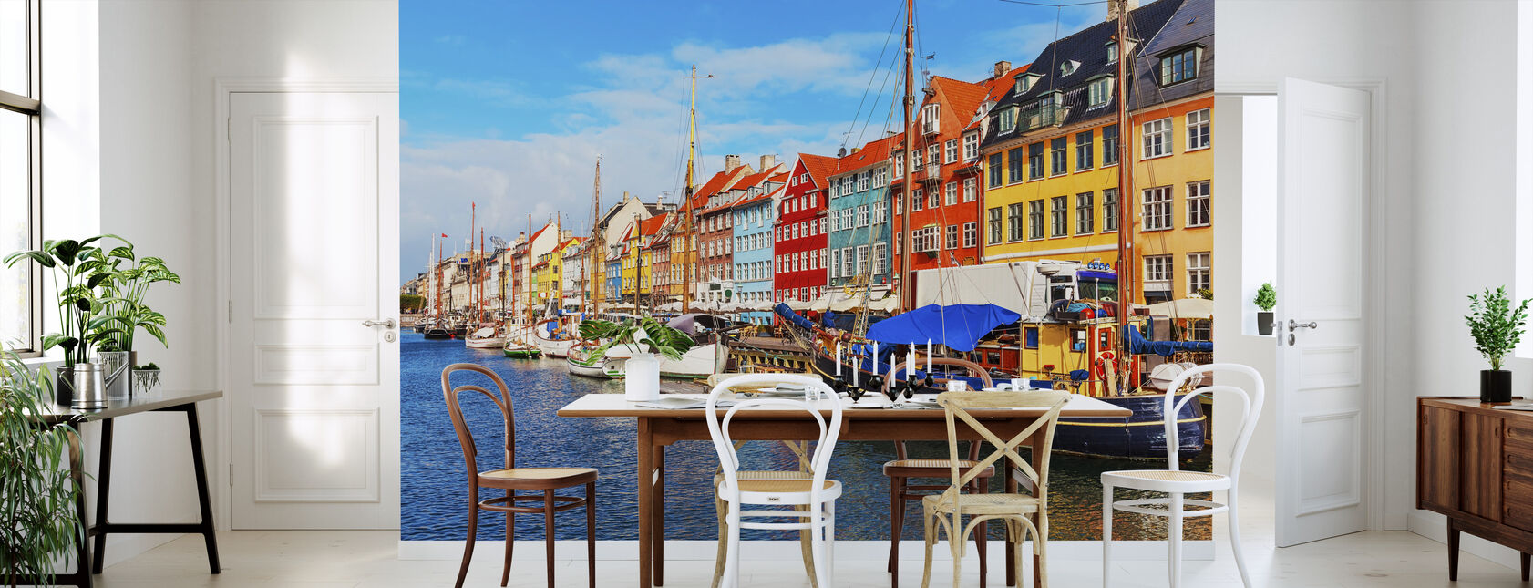 Summer View of Nyhavn Pier - Wallpaper - Kitchen