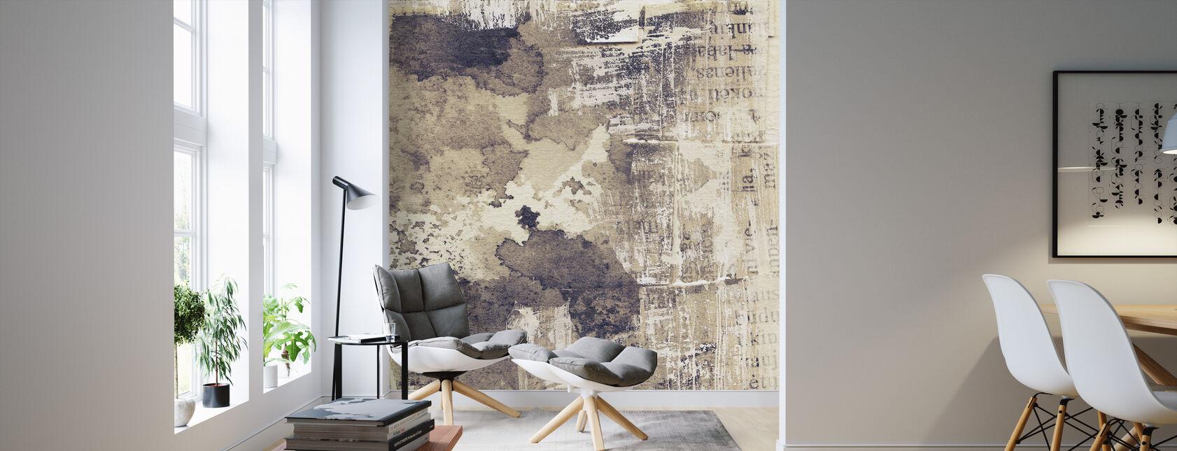 Gescheurde inkt Textuur - Behang - Woonkamer