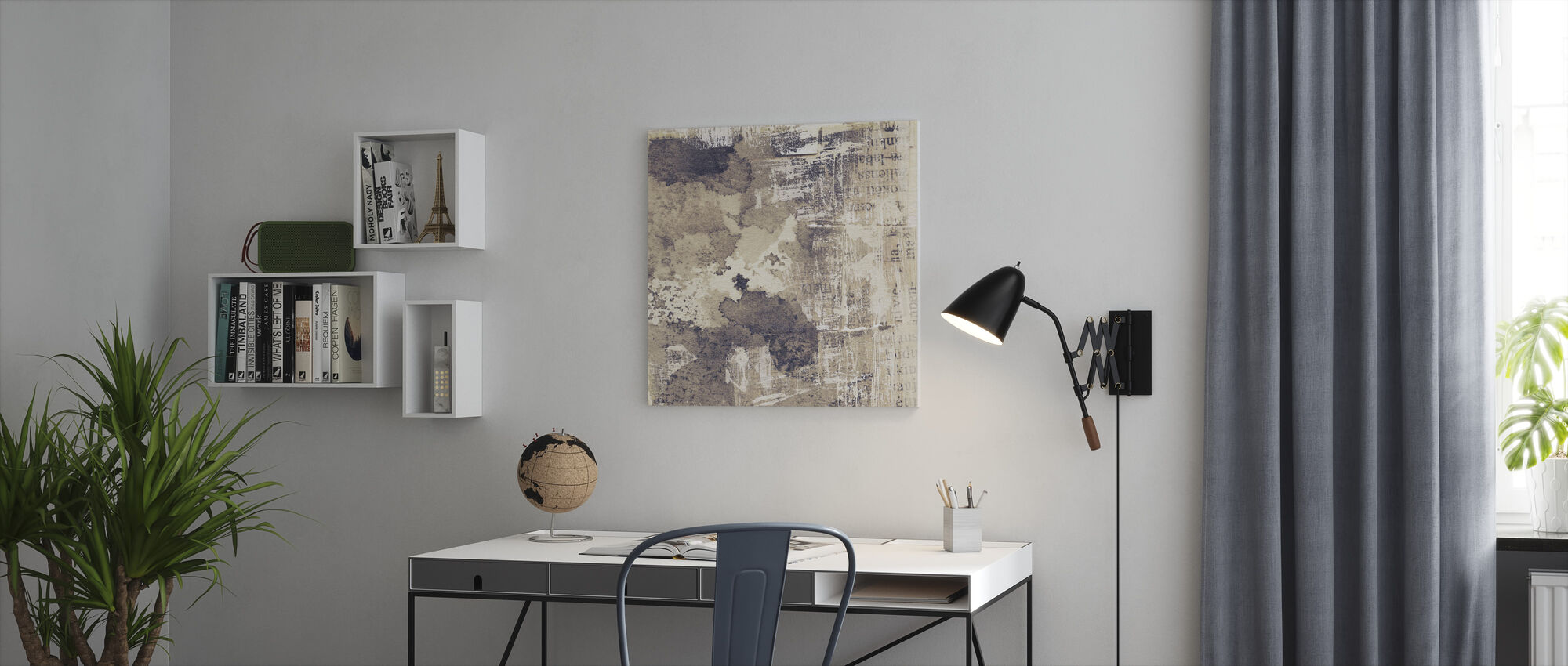 Torn Ink Texture - Canvas print - Office