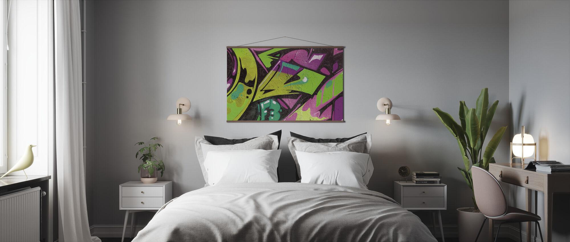 Urban Graffiti Detail - Plakat - Soveværelse