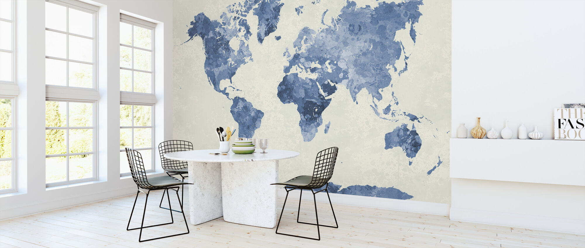 Blue World In Watercolor