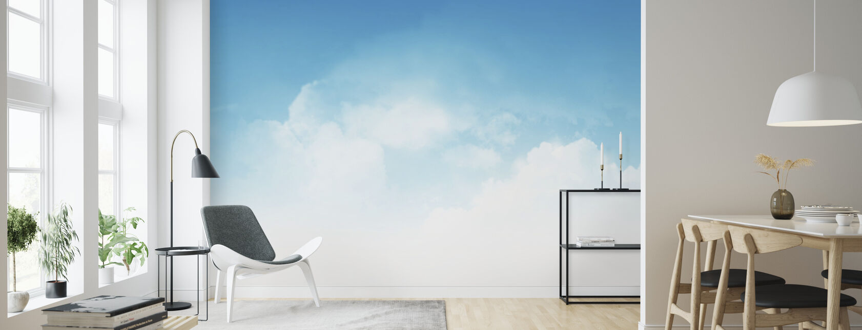 Cloudy Blue Sky - Wallpaper - Living Room