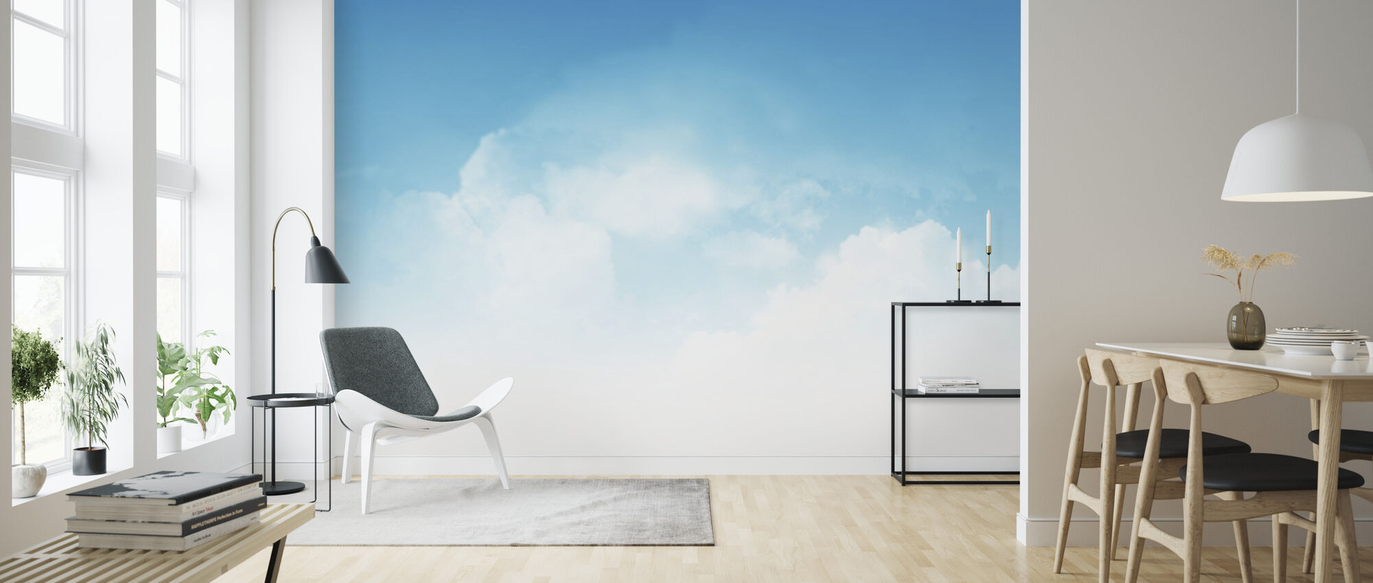 Cloudy Blue Sky - Wallpaper - Living Room