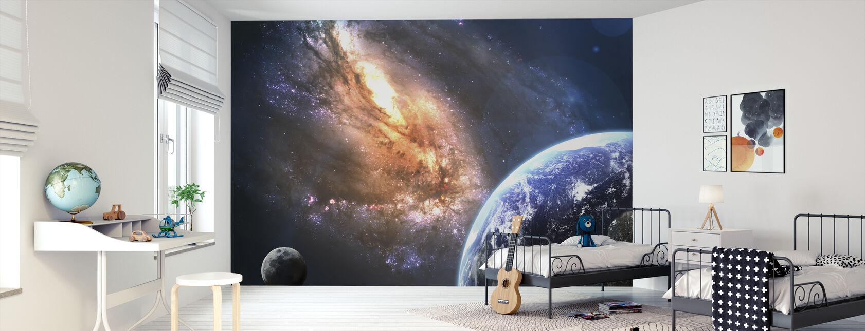 Jorden i rummet - Tapet - Børneværelse