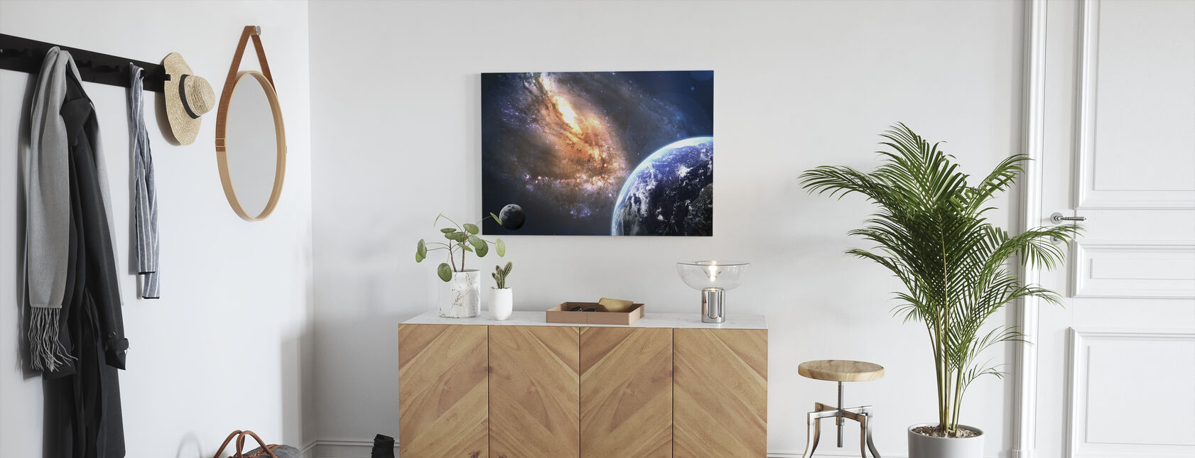 Earth in Space - Canvas print - Hallway