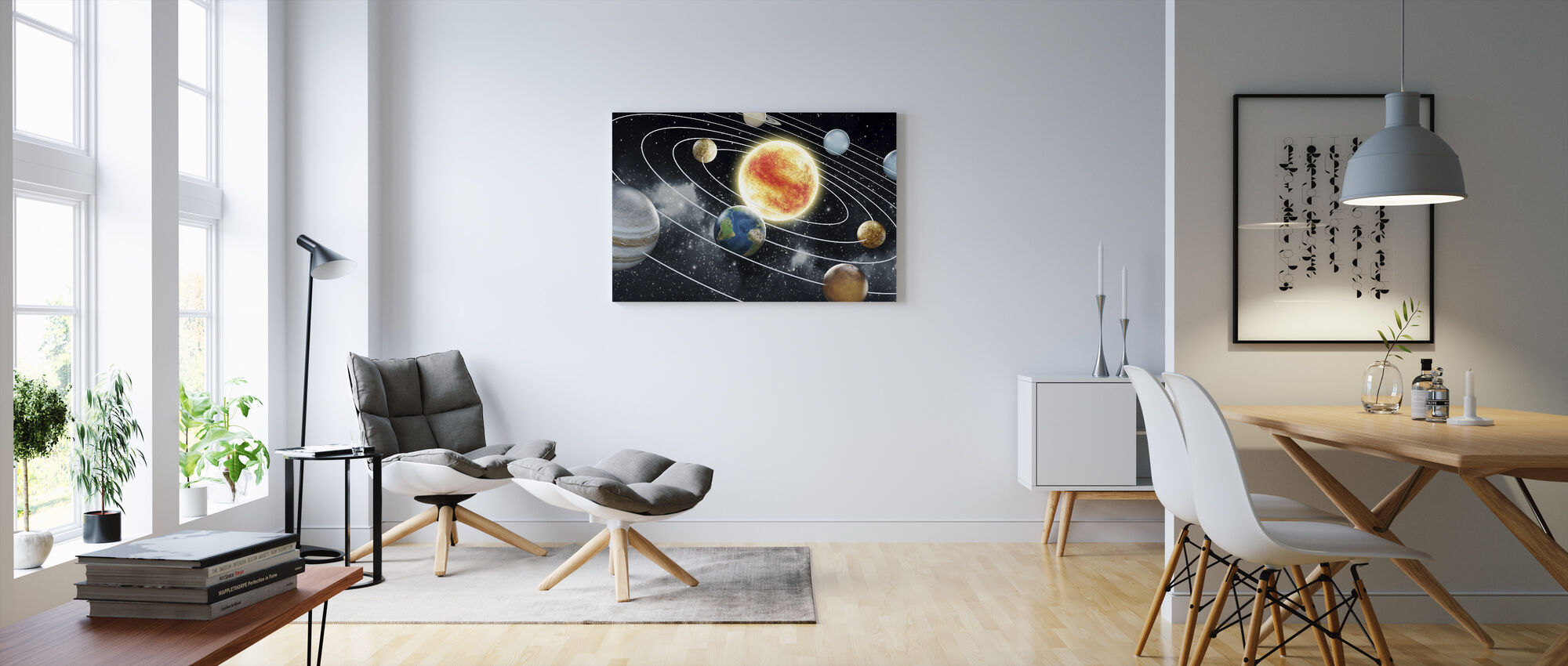 Eight Planets - Canvas print - Living Room