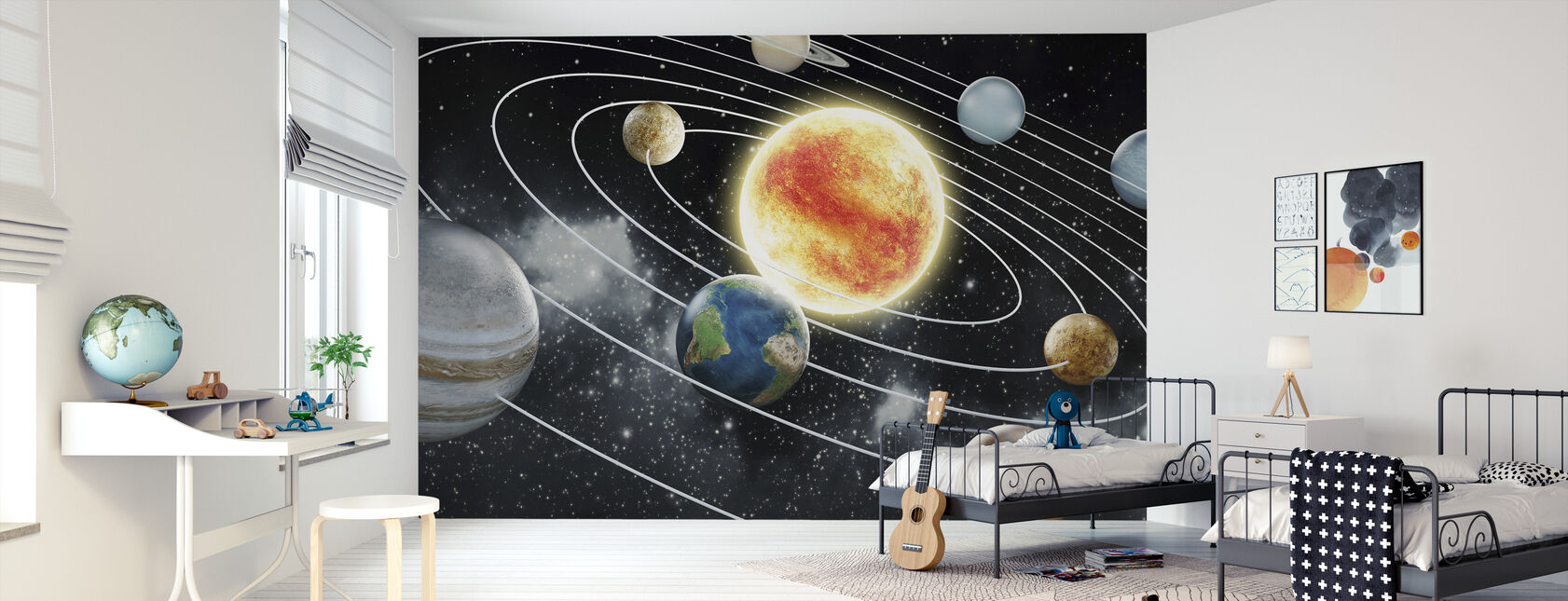 Åtte planeter - Tapet - Barnerom