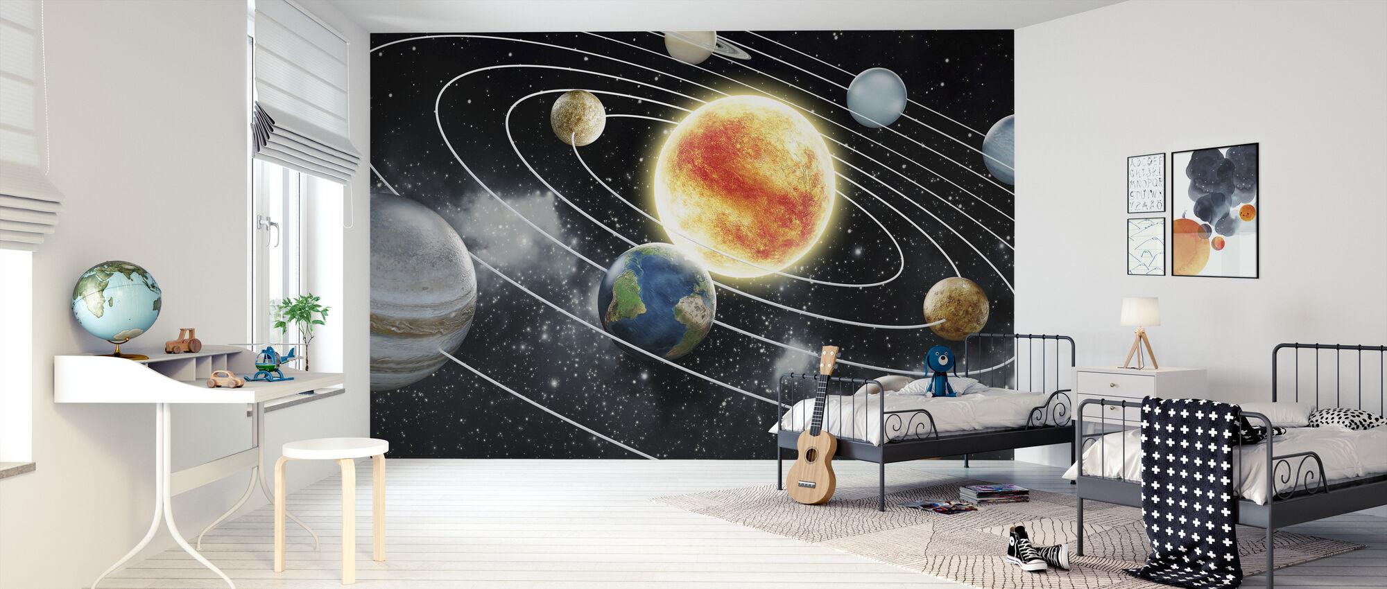 Kahdeksan planeettaa - Tapetti - Lastenhuone