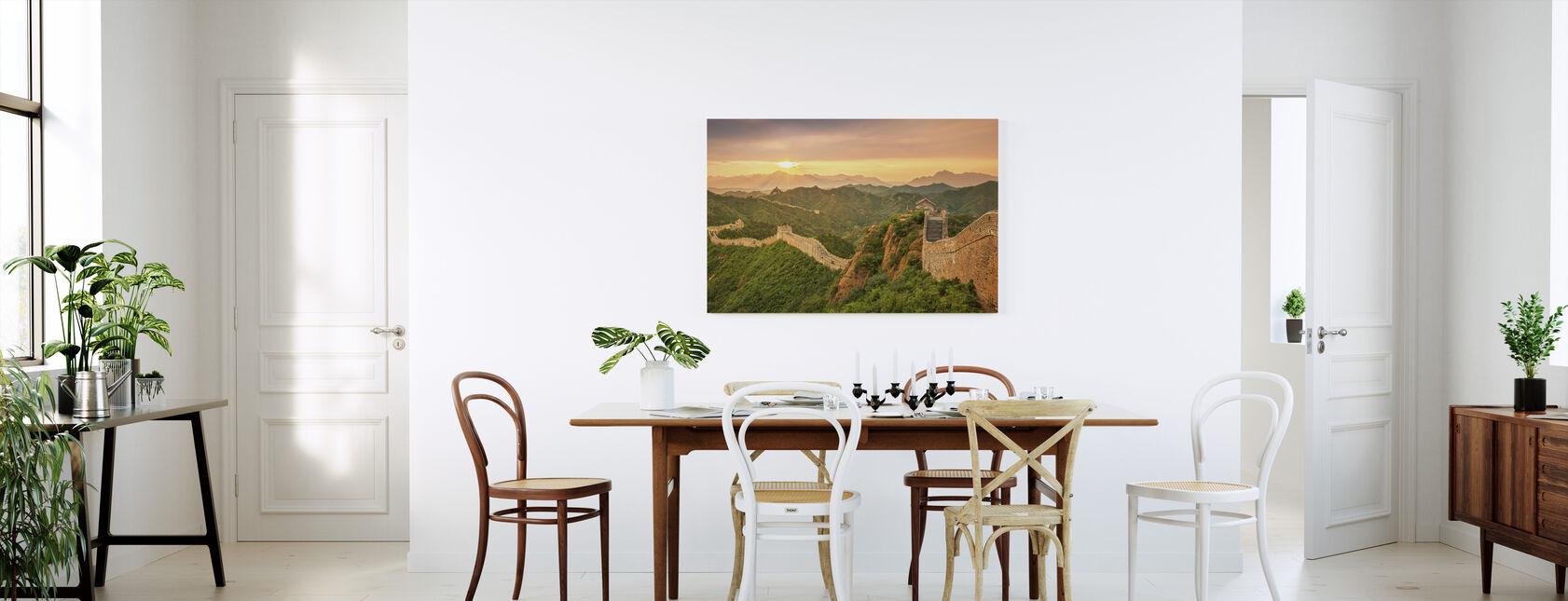 Grote Muur van China bij zonsopgang - Canvas print - Keuken