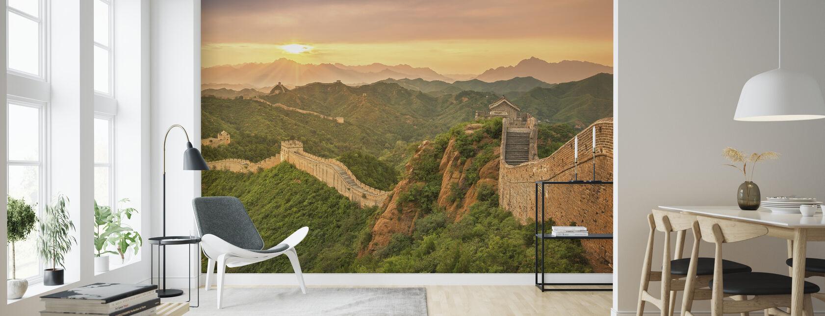 Grote Muur van China bij zonsopgang - Behang - Woonkamer