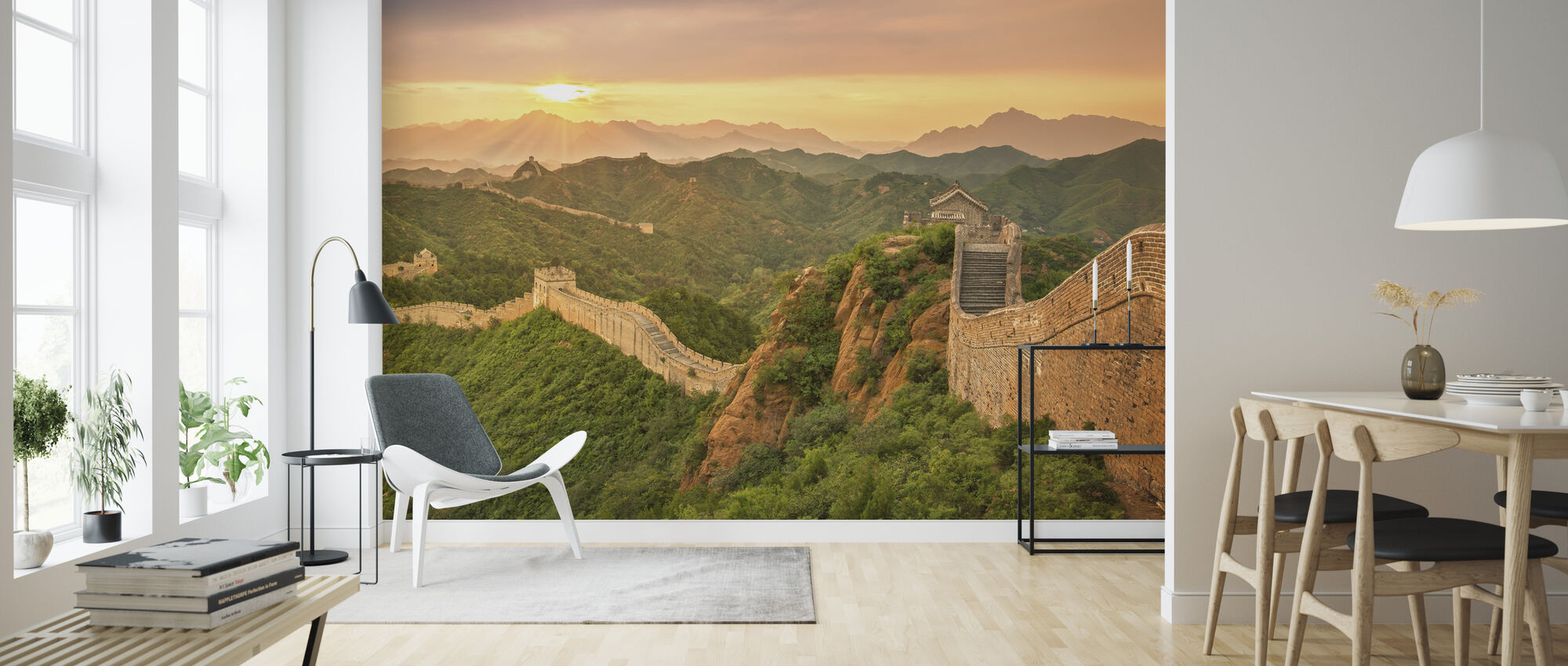 Great Wall of China at Sunrise - Wallpaper - Living Room