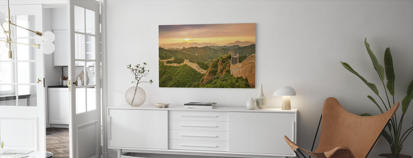 Kiinan muuri auringonnousussa - Canvastaulu - Olohuone