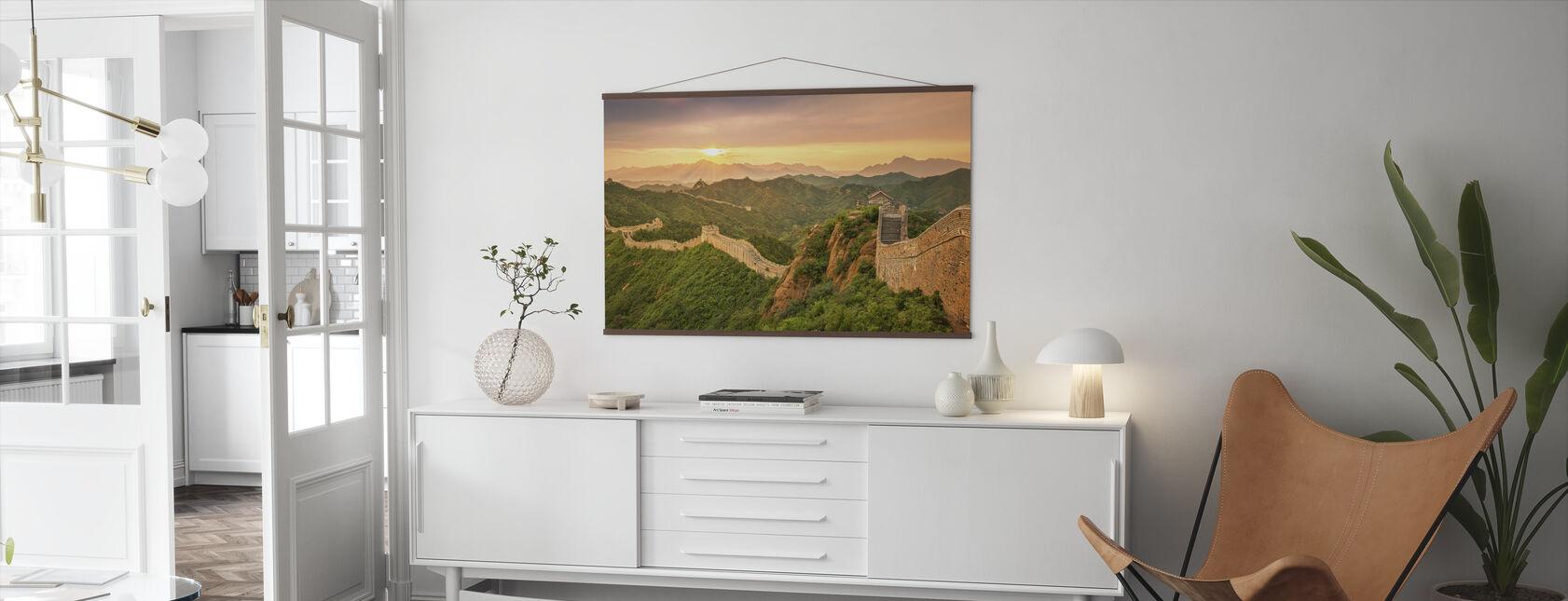 Kinesiske mur ved soloppgang - Plakat - Stue