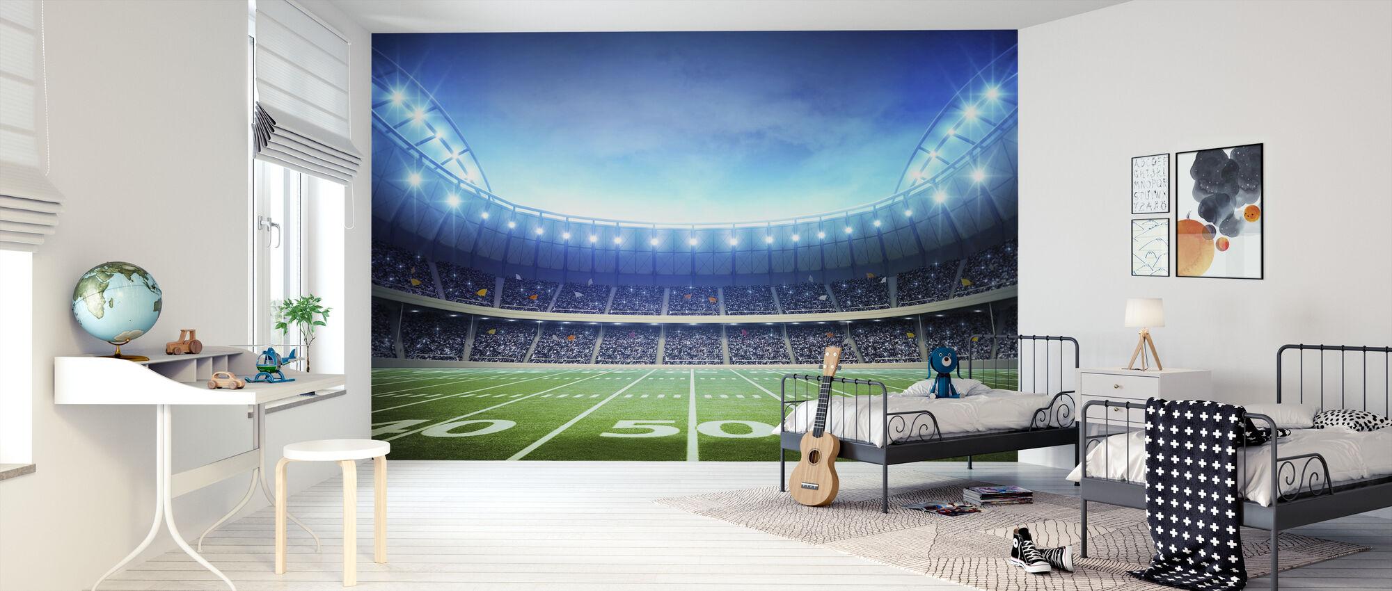 Ljus från American Stadium - Tapet - Barnrum