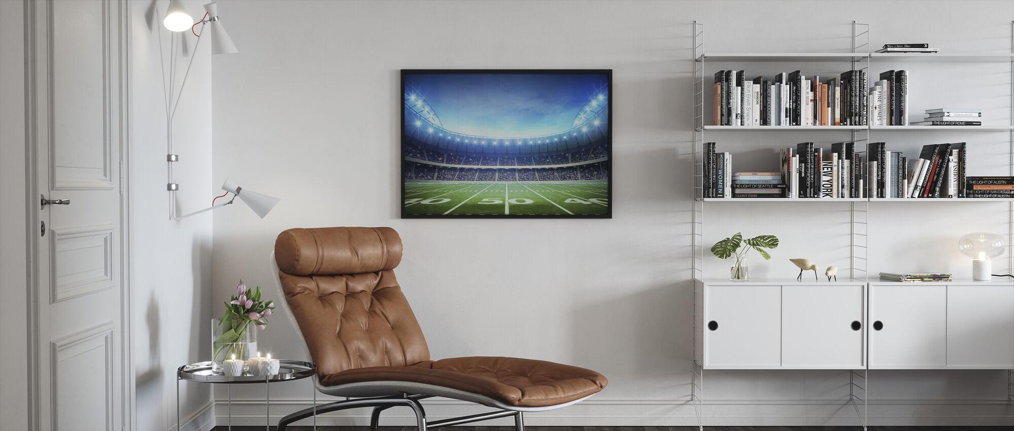 Light of American Stadium - Framed print - Living Room