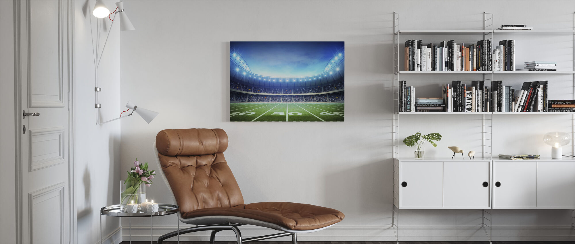 Light of American Stadium - Canvas print - Living Room
