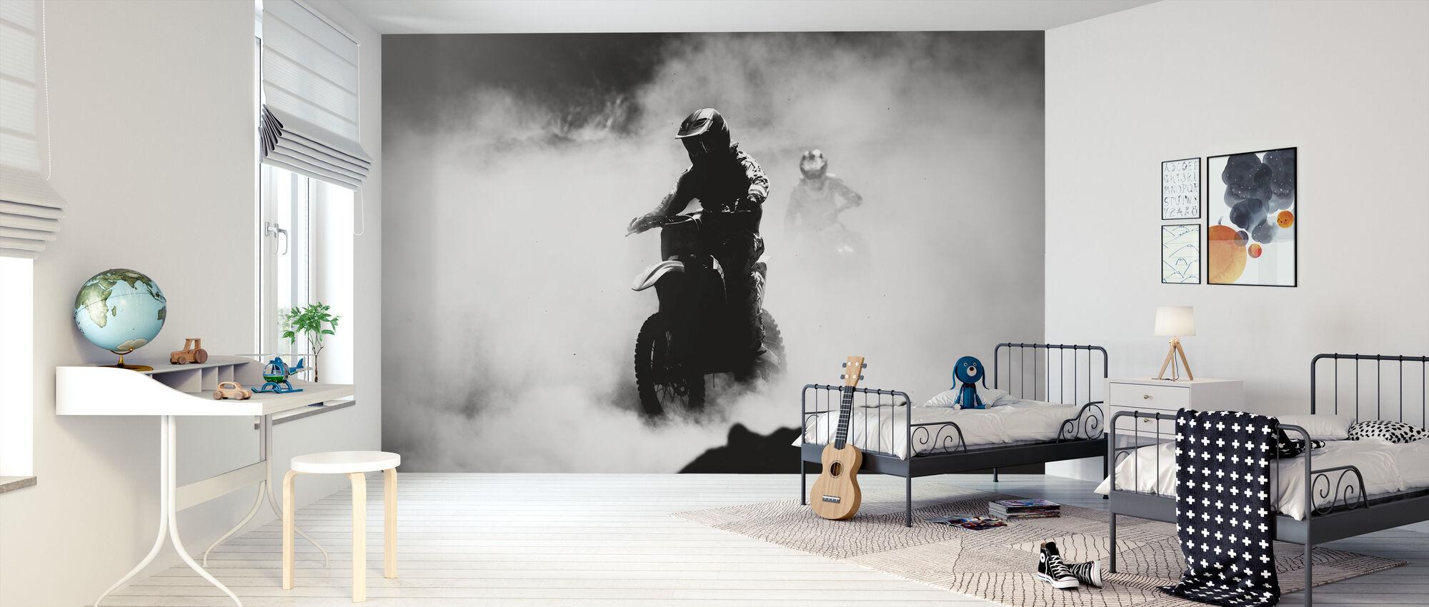 Motorcross Racer - Behang - Kinderkamer