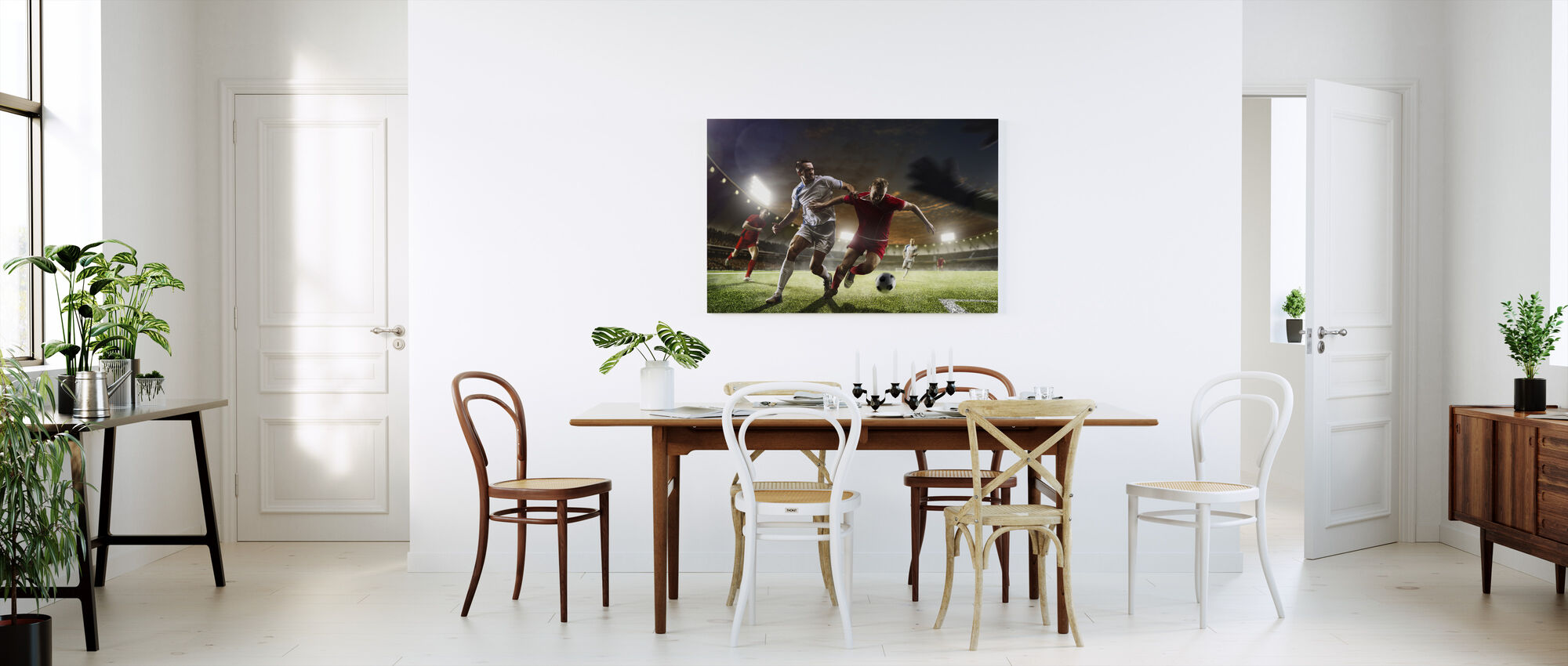 Playing Soccer - Canvas print - Kitchen