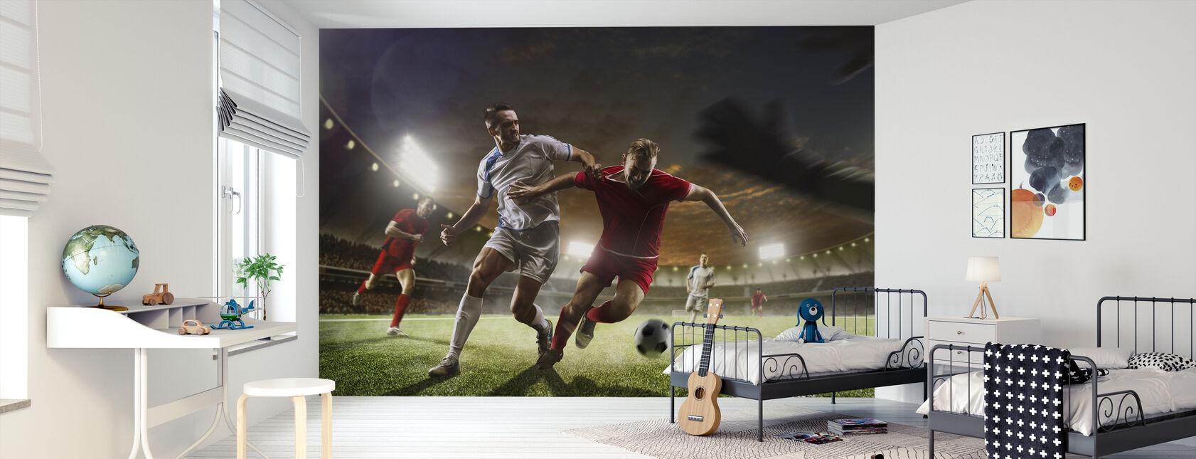 Fußball spielen - Tapete - Kinderzimmer