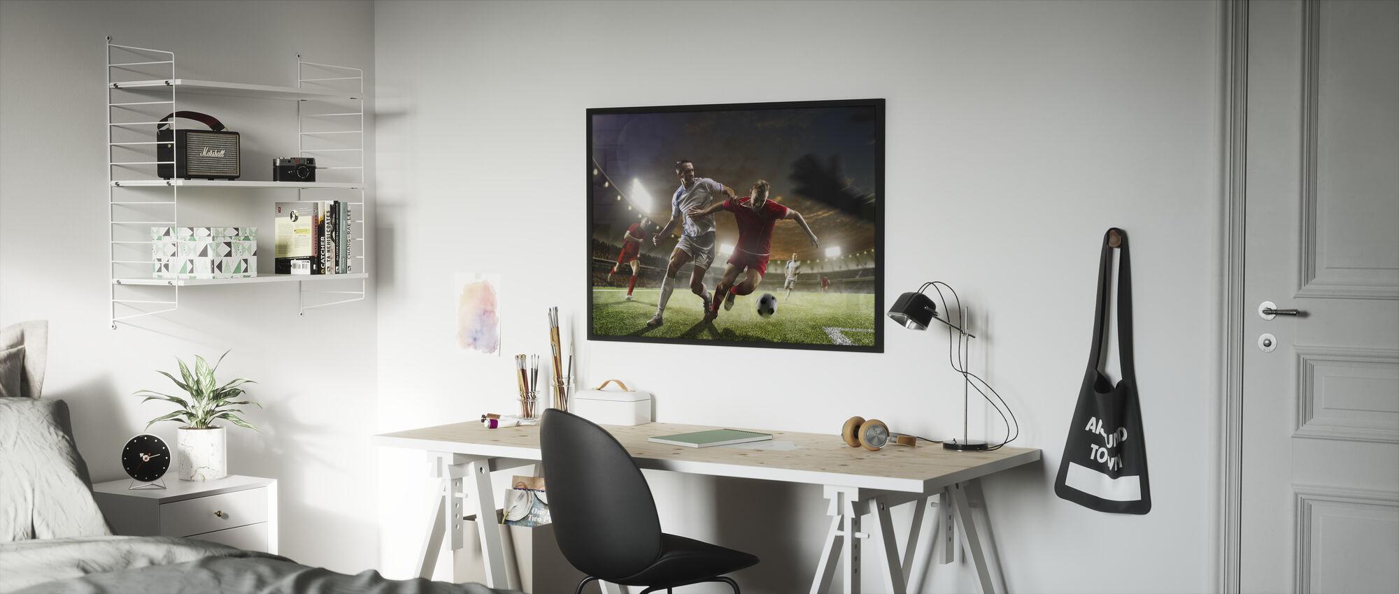 Playing Soccer - Framed print - Kids Room