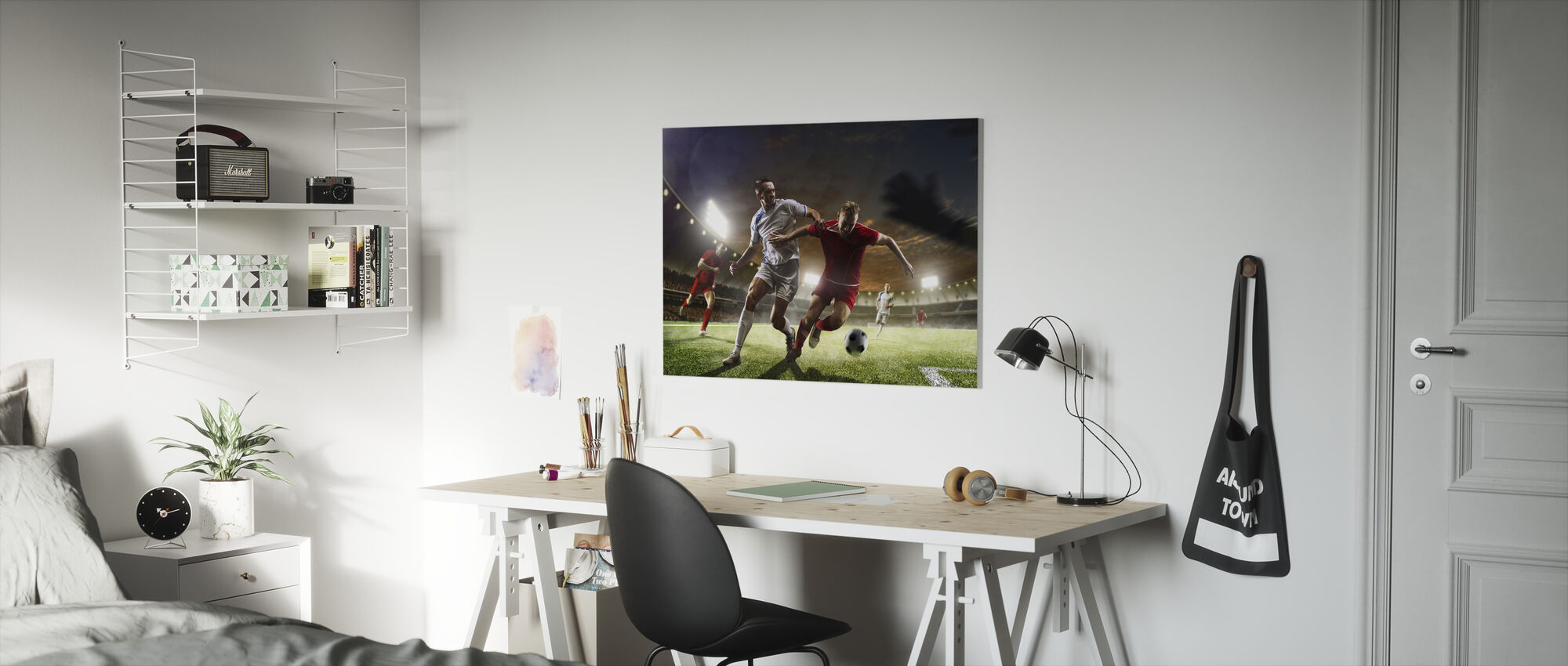 Playing Soccer - Canvas print - Kids Room