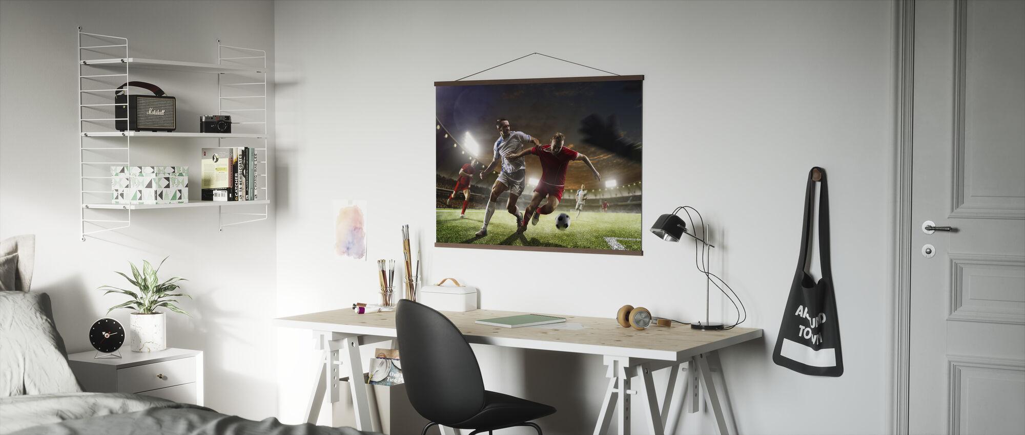 Voetbal spelen - Poster - Kantoor