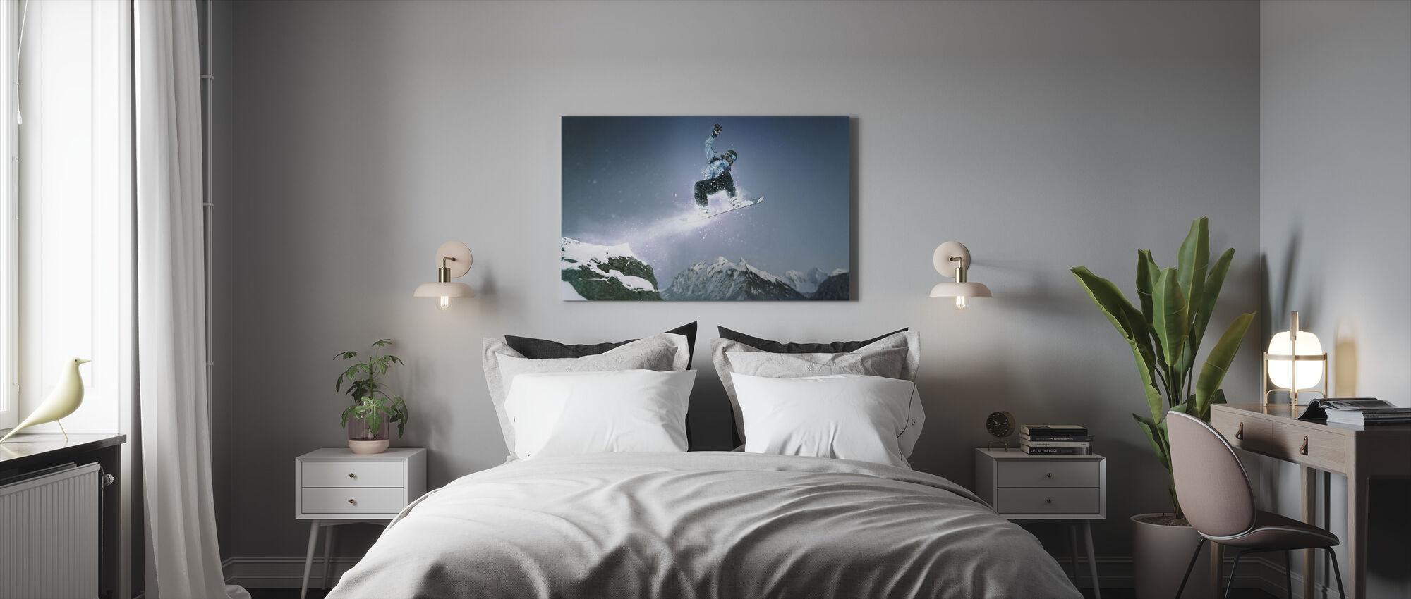 Snowboard metode Grab - Billede på lærred - Soveværelse