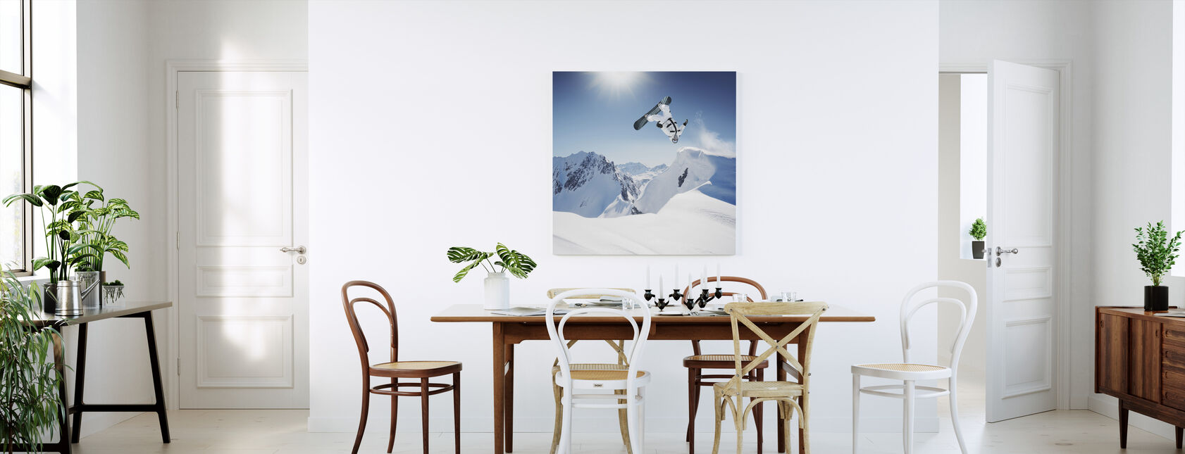 Snowboarder Backflip - Canvas print - Kitchen
