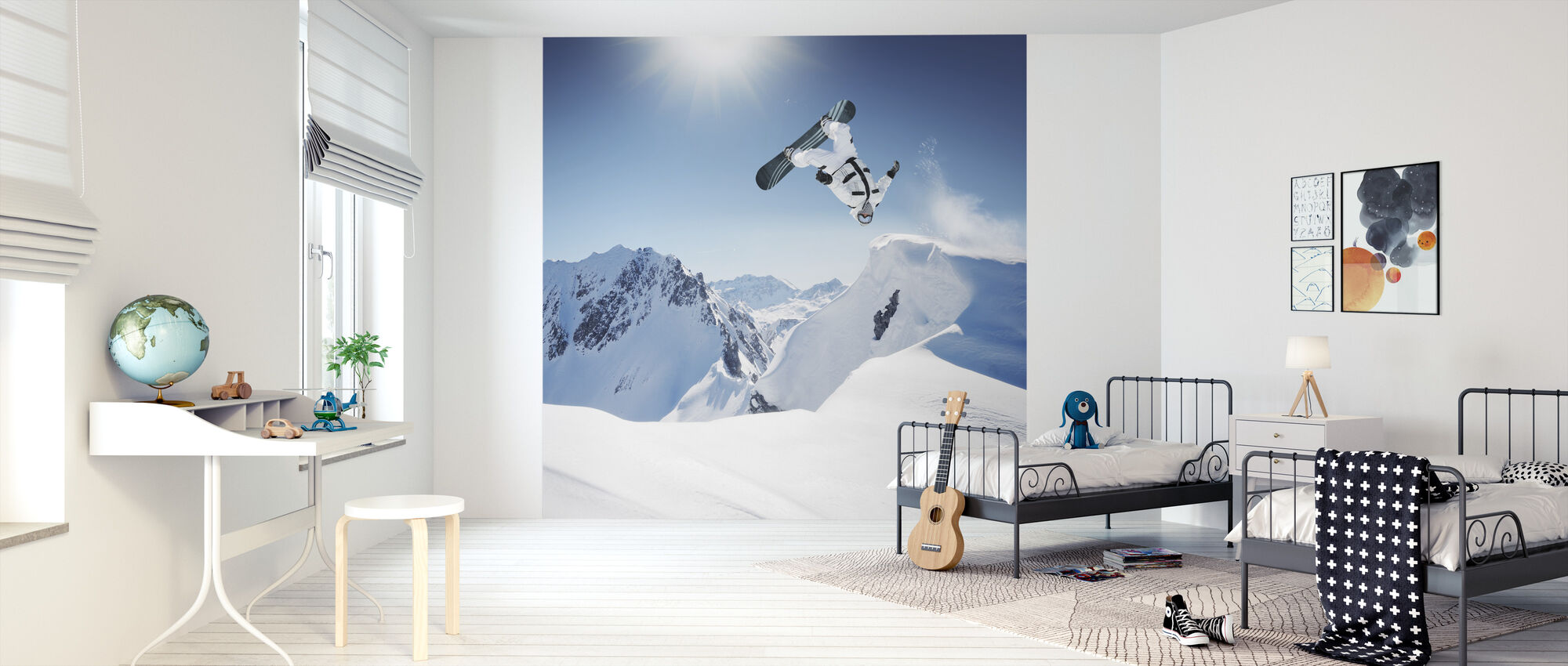 Snowboarder Backflip - Wallpaper - Kids Room