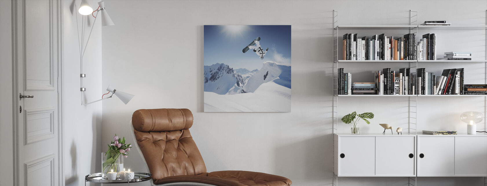 Snowboarder Backflip - Canvas print - Living Room