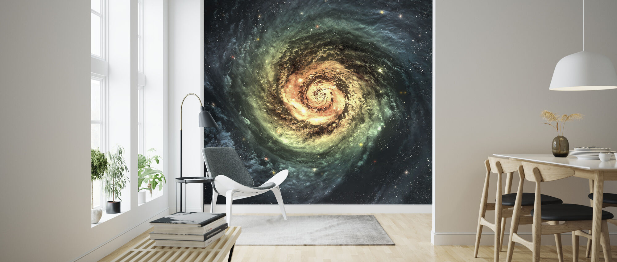 Spiral Galaxy - Wallpaper - Living Room