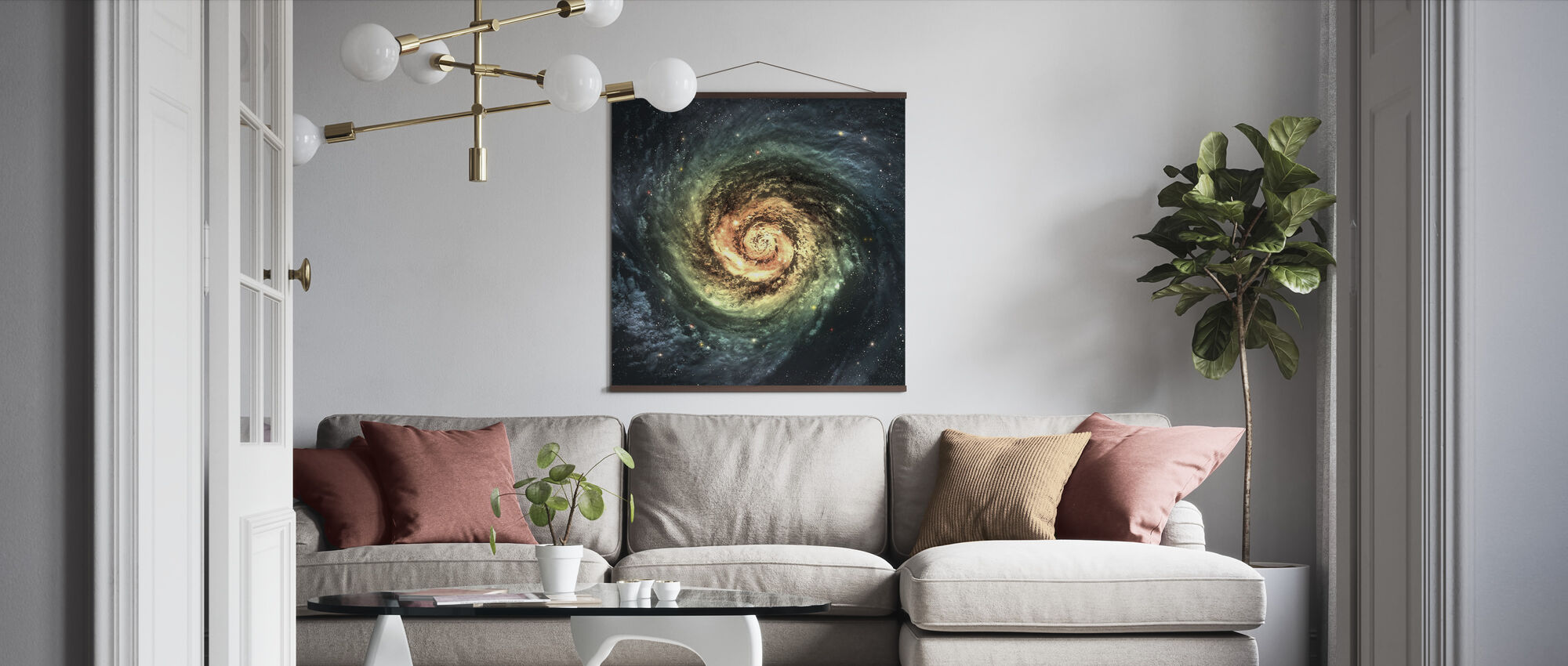 Spiral Galaxy - Poster - Woonkamer