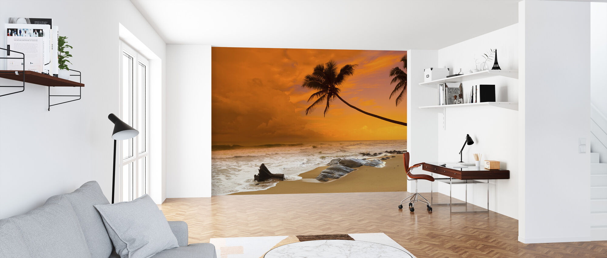 Sunset over the Sea - Wallpaper - Office