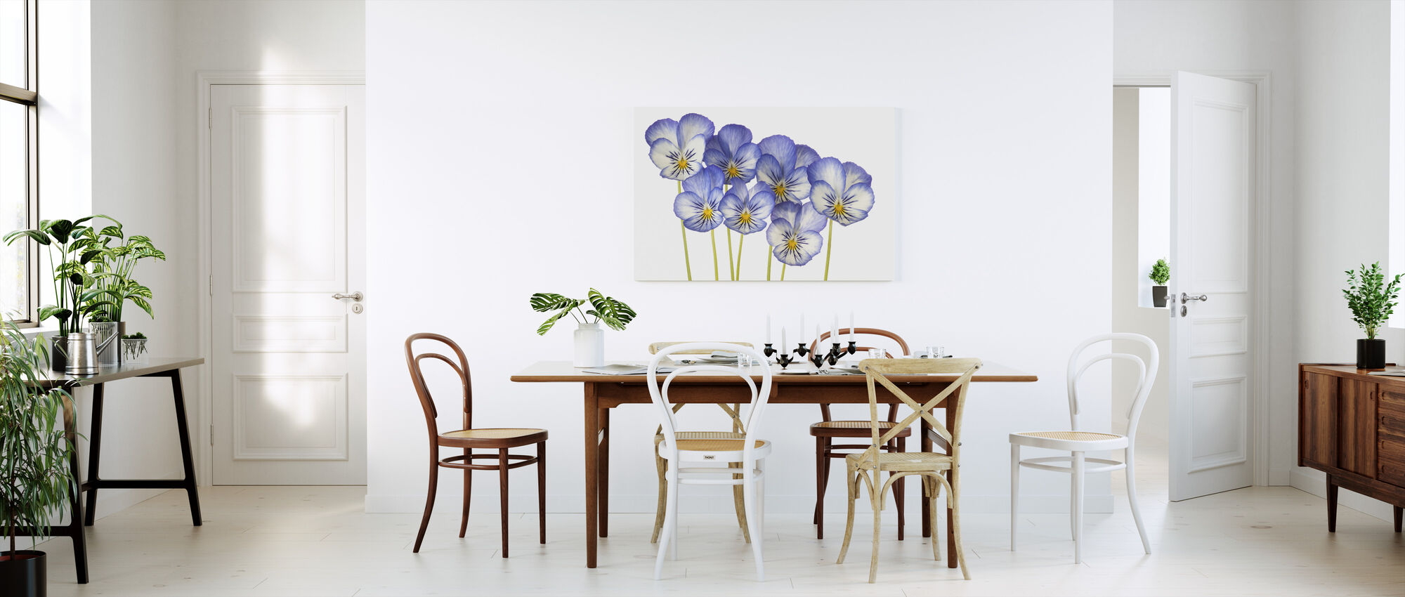 Blue Pansies - Canvas print - Kitchen