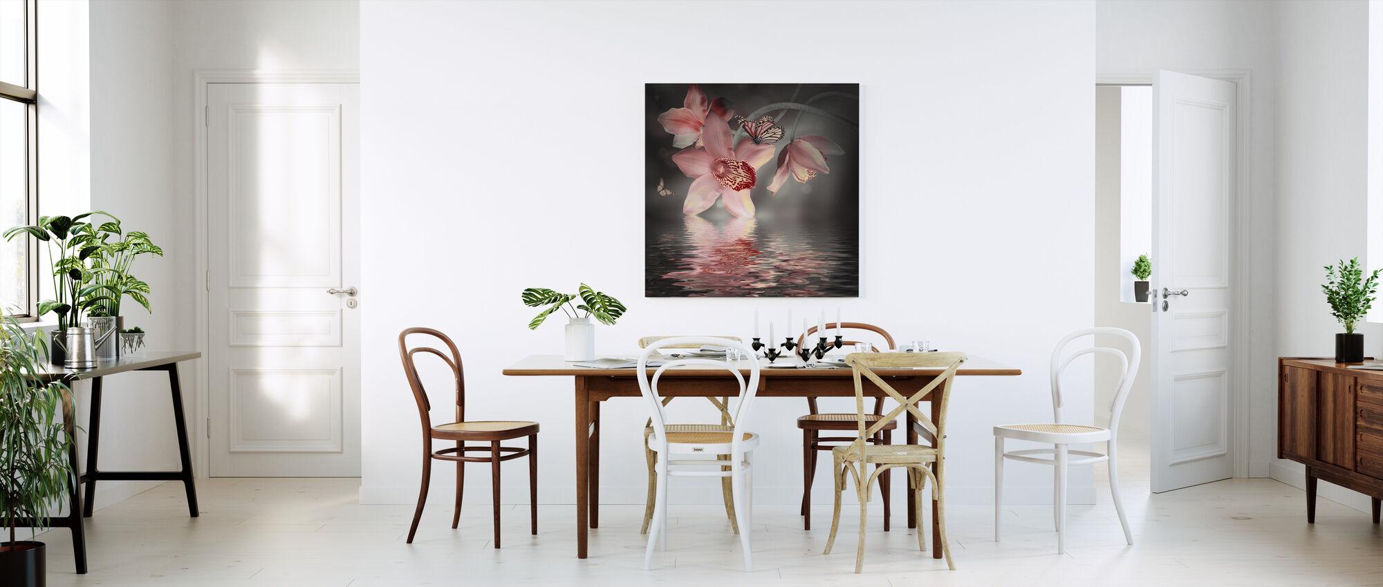 Fjäril Orkidé - Canvastavla - Kök