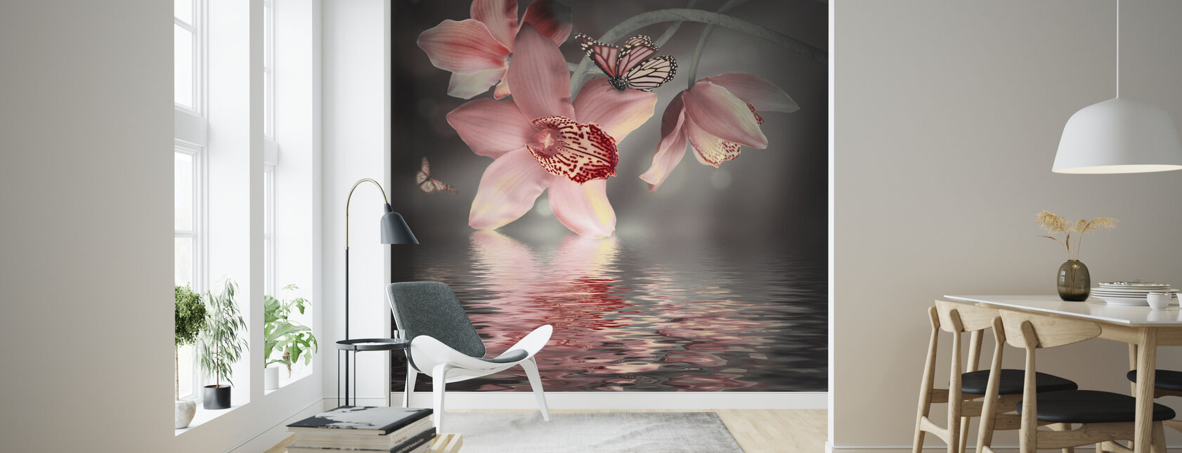 Butterfly Orchid - Wallpaper - Living Room