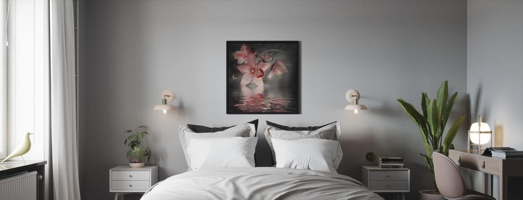 Butterfly Orchid - Framed print - Bedroom