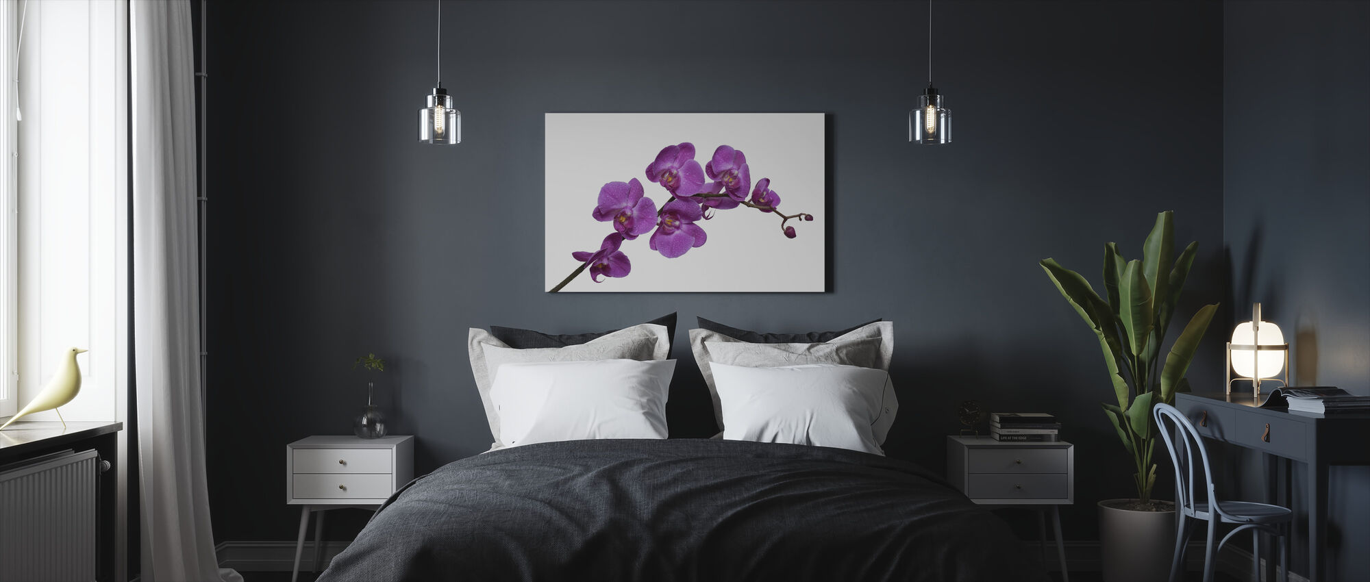 Crisp Orchids - Canvas print - Bedroom