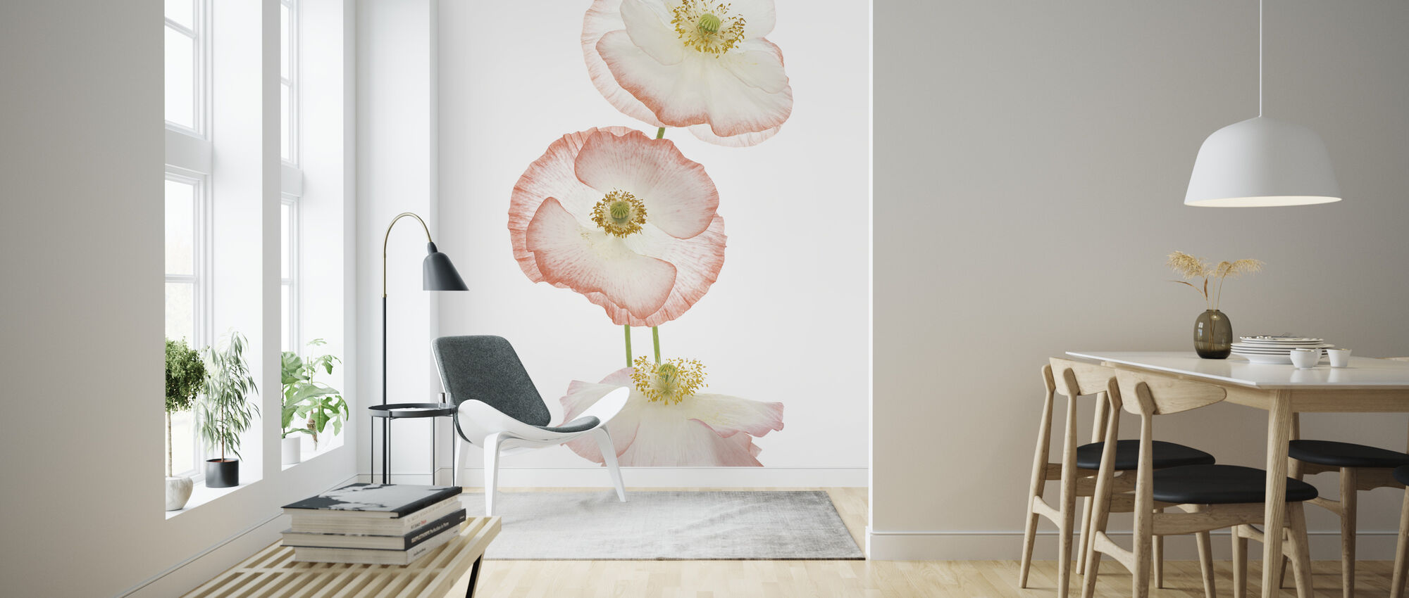 Delicate Poppies - Wallpaper - Living Room